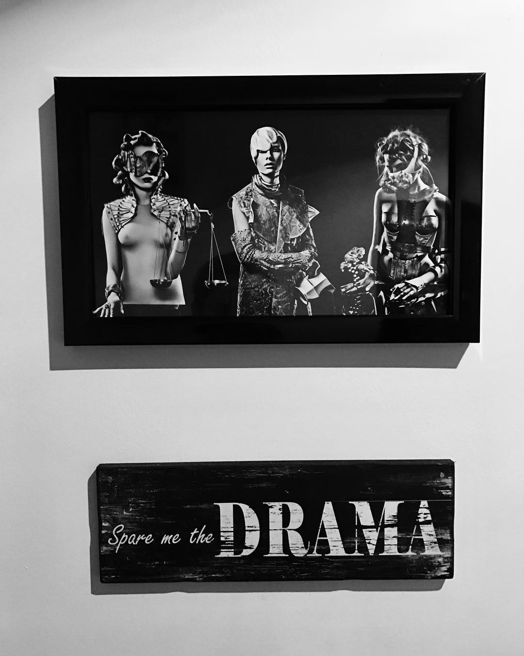 Some printed and framed images from editorial petrification dramamag morehellip